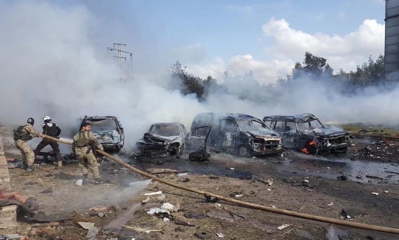 napad na konvoj sirija