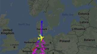 """Erbas A-380"" nacrtao gigantsku jelku iznad Njemačke"