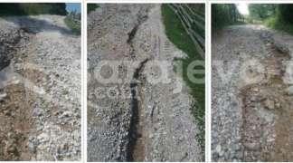 Put ka selu Bljuštevac kod Mokrog neprohodan nakon obilnih kišnih padavina