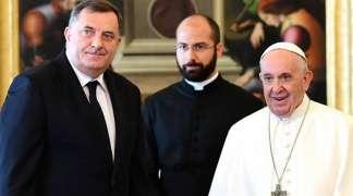 Dodik papi Franji poklonio ikonu Svetog Save i kandilo