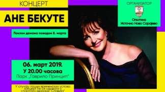 Koncert Ane Bekute povodom 8. marta u Istočnom Sarajevu