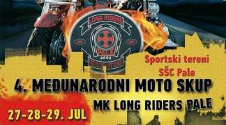 MK ''Long Riders'' organizuje četvrti moto skup u Palama